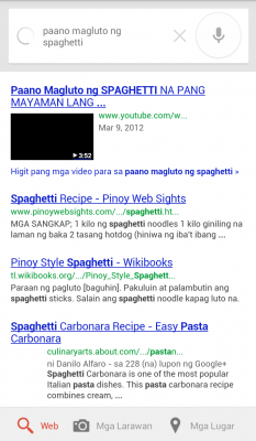Google Voice Search Filipino