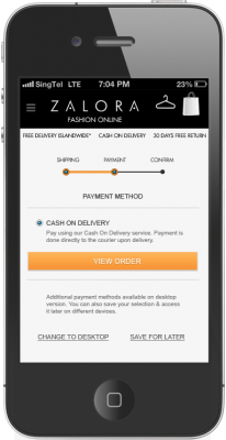 Zalora Redesigned Mobile Site