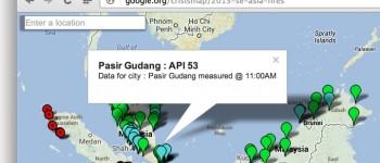 malaysia and singapore haze crisis maps