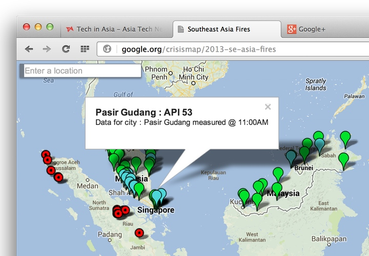 malaysia and singapore haze crisis maps