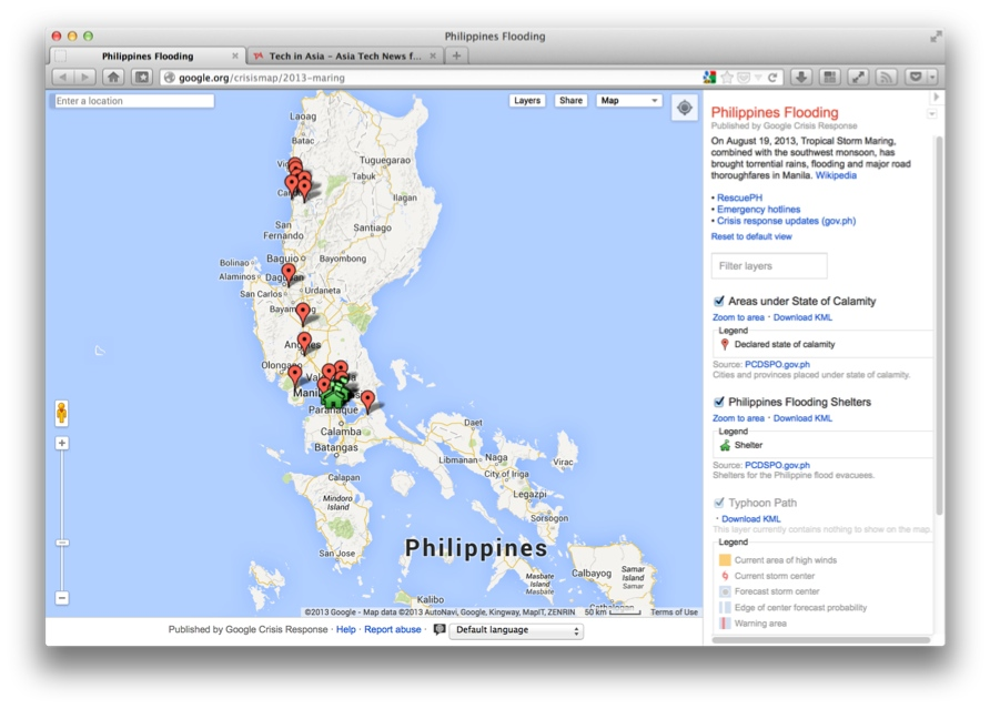 Google crisis response map helps philippine flood victims googles crisis response philippines 2013 gumiabroncs Image collections
