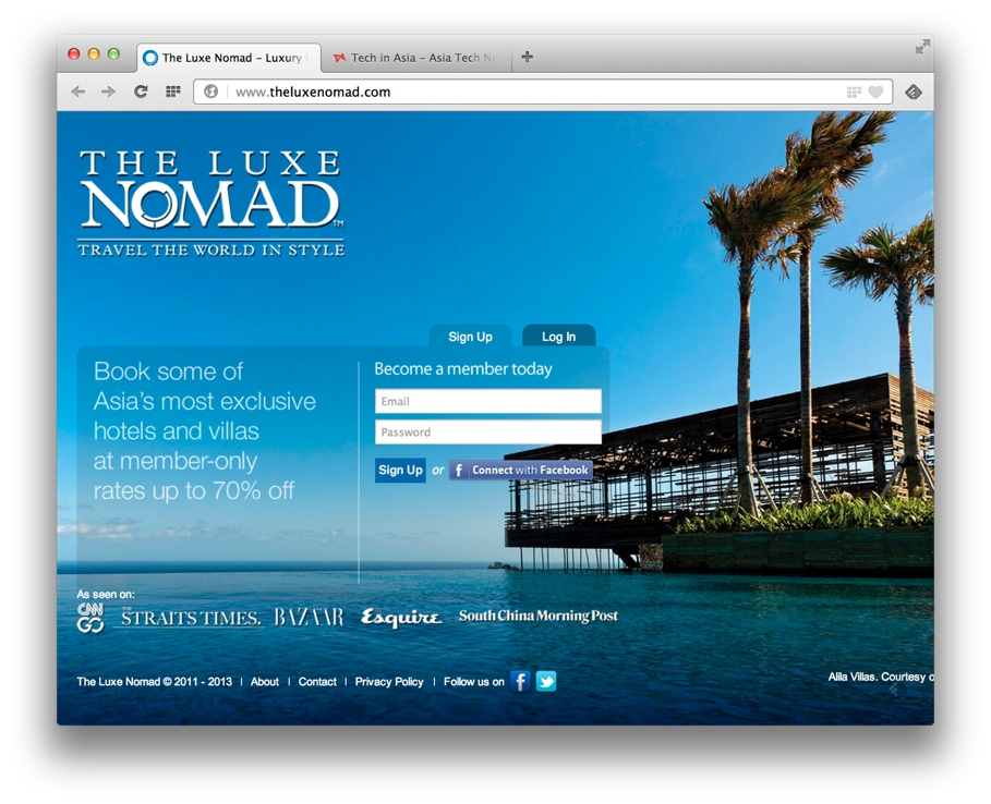 Luxury travel deals site The Luxe Nomad gets funding