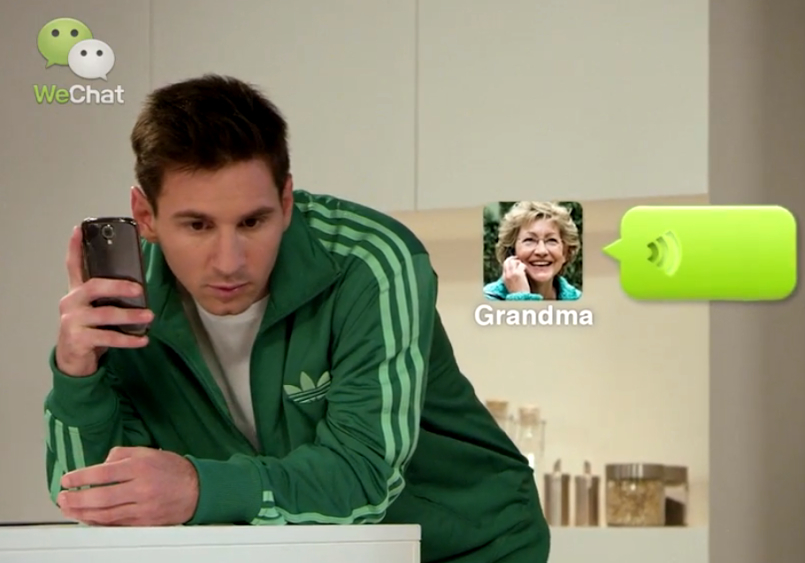 Boosted by Messi's endorsement, WeChat scores 100 million users outside of China