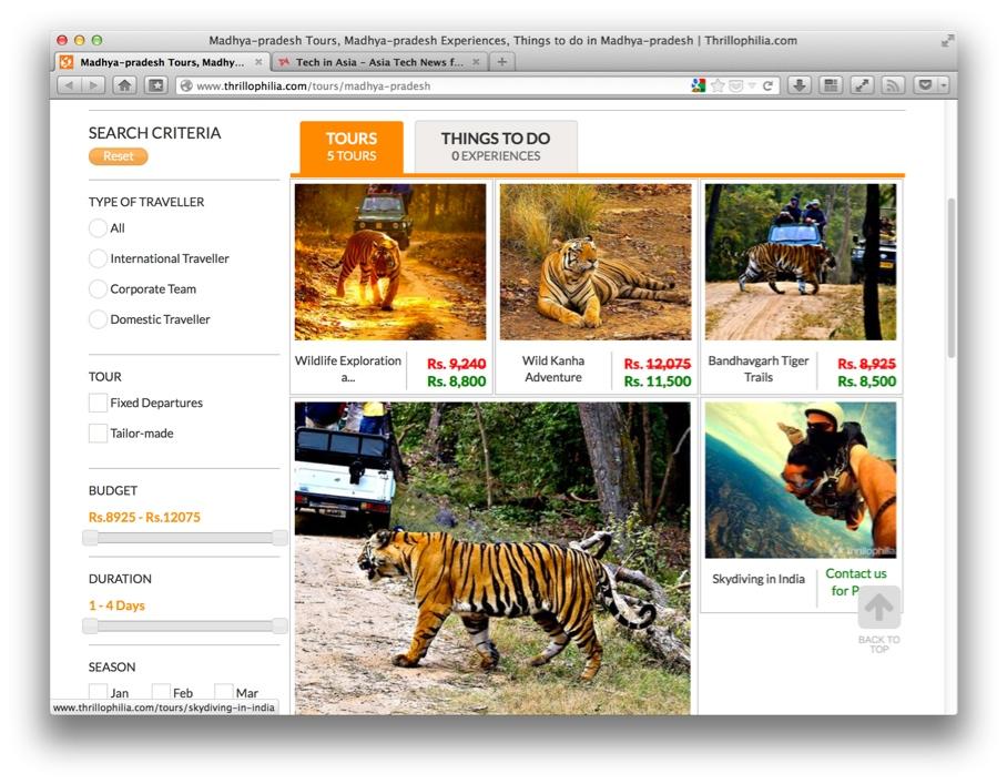 Thrillophilia, adventure tours in India