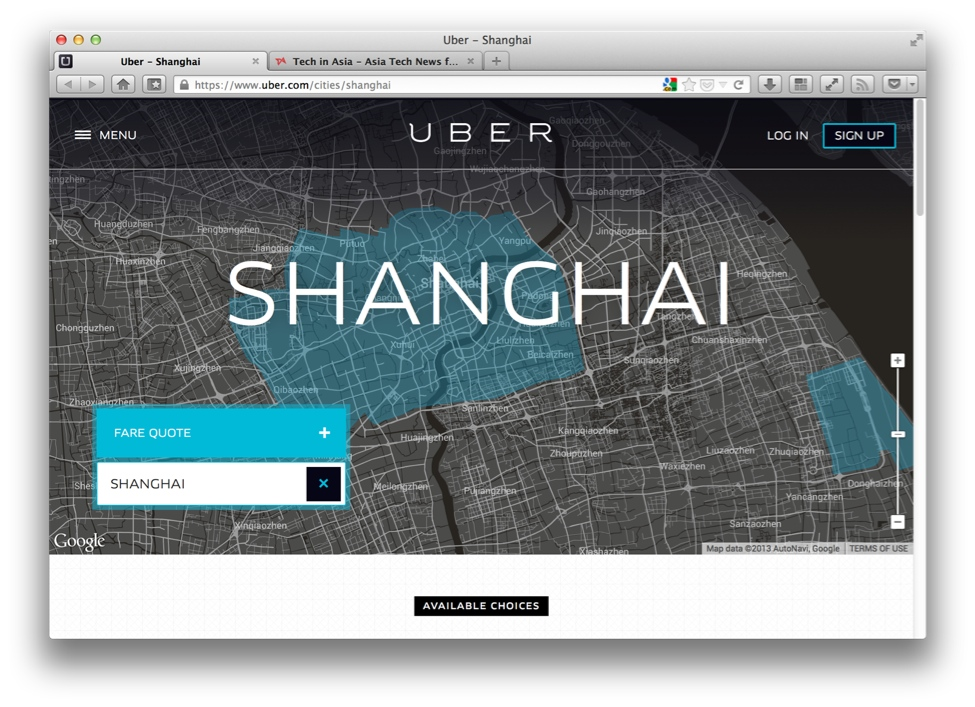 Uber China, Shanghai launch