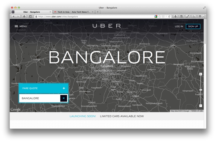 Uber launches in India