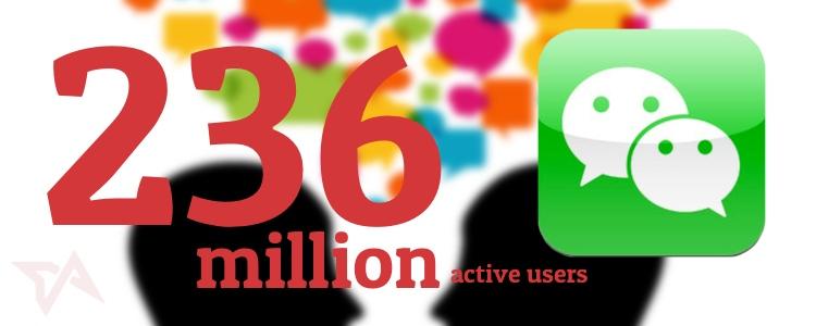 WeChat 236 million users
