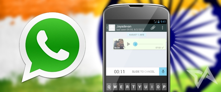 WhatsApp has 30 million active users in India, up 5 million from last month