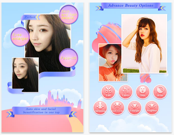 Chinese selfie photo app BeautyPlus edits your face: Enlarge
