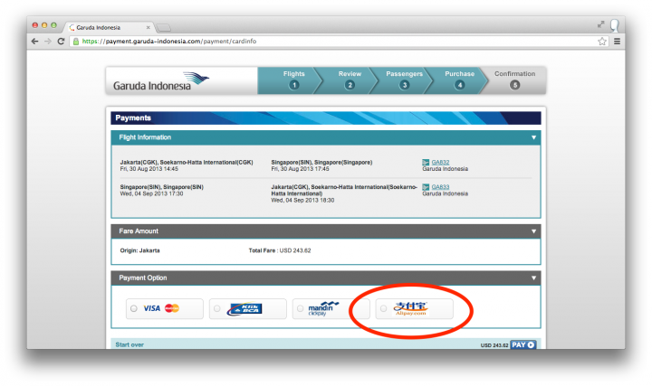garuda indonesia alipay highlight