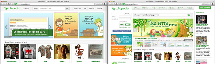 tokopedia website