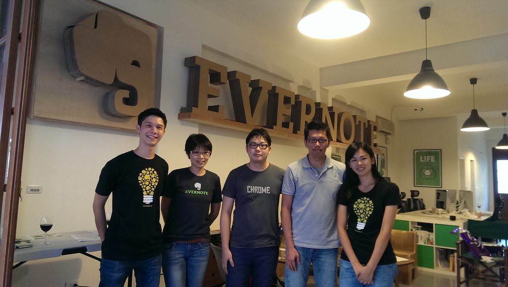 evernote office. Evernote Syncs Up With 1 Million Users In Taiwan Office I
