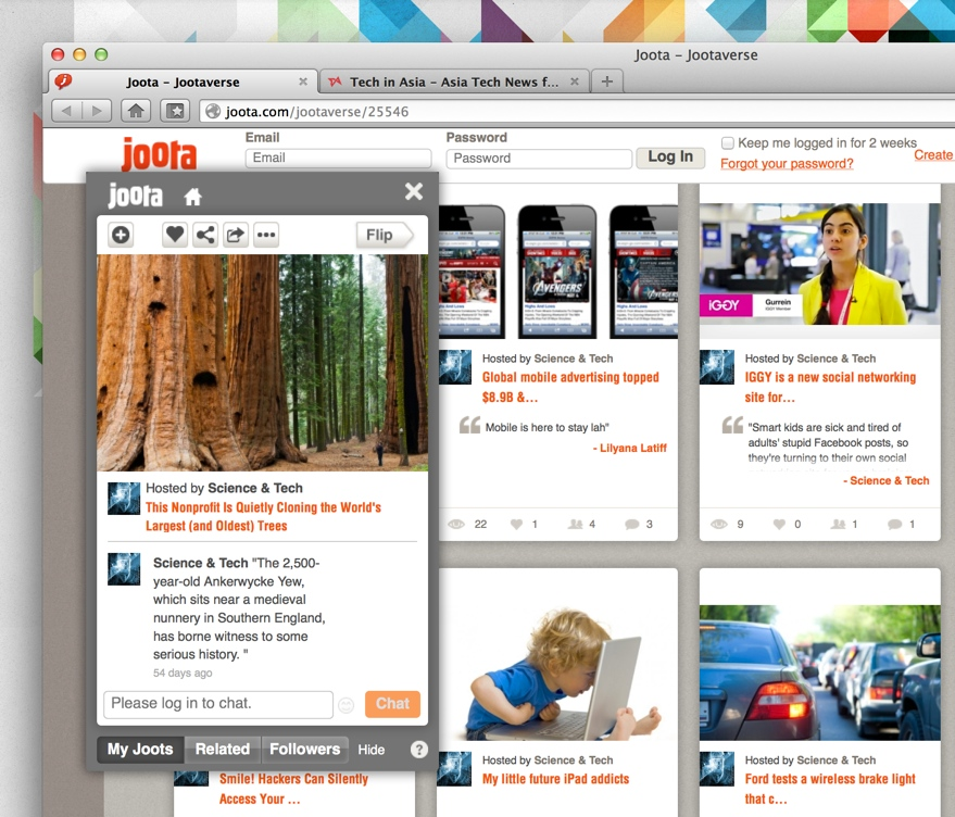 Joota wants to get you talking about the content you share