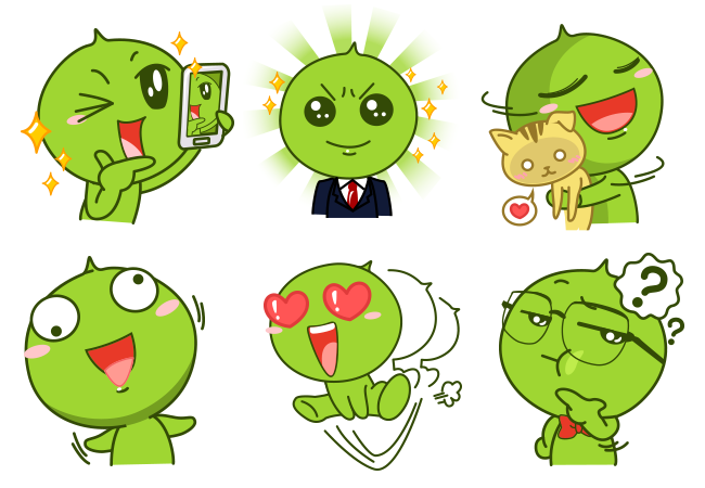 Line stickers for China