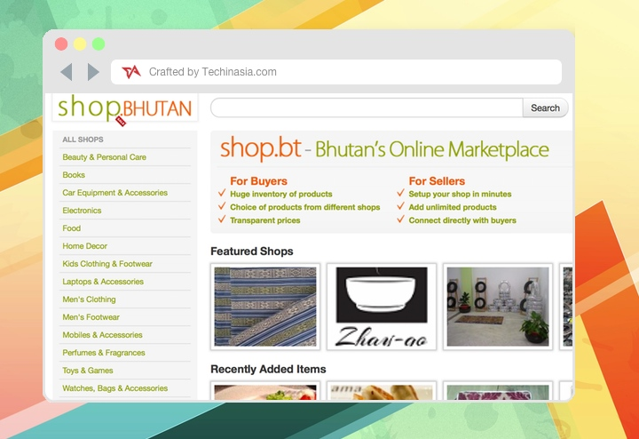 Shop.bt ecommerce in Bhutan