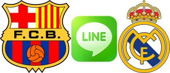 barcelona line real madrid