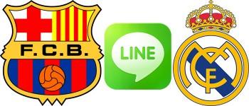 barcelona line real madrid