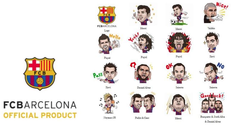 barcelona line stickers