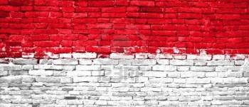 indonesia flag brick