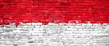 indonesia flag brick