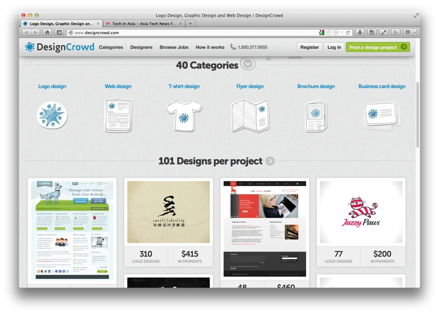 DesignCrowd is an online crowdsourcing marketplace for design