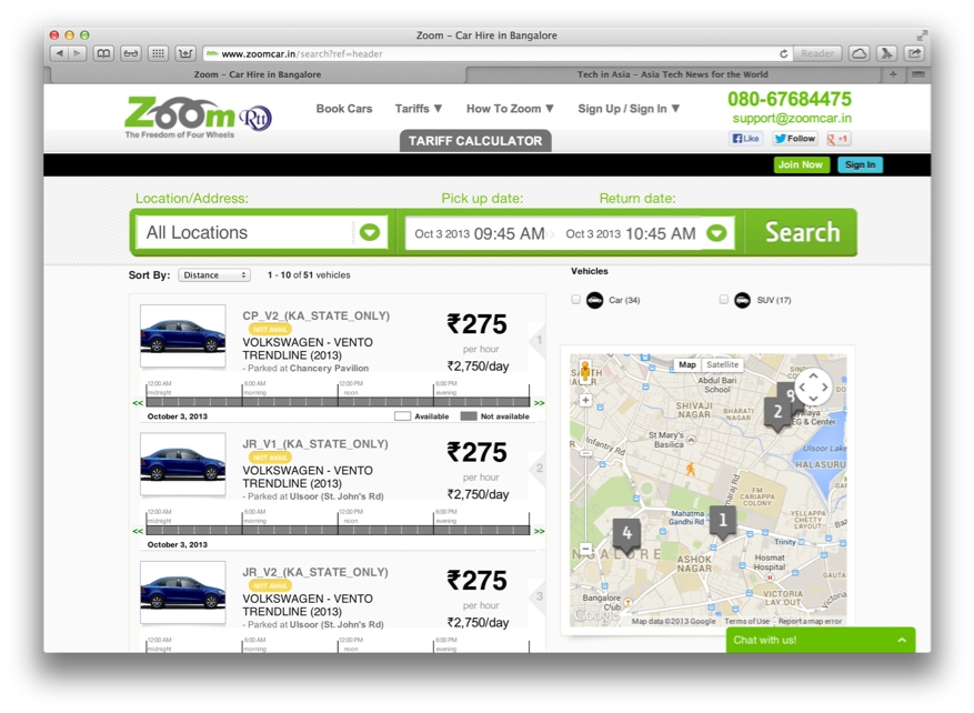 India's Zoom gets extra $1 million seed funding to accelerate car rental business
