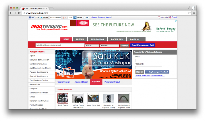 Indotrading website