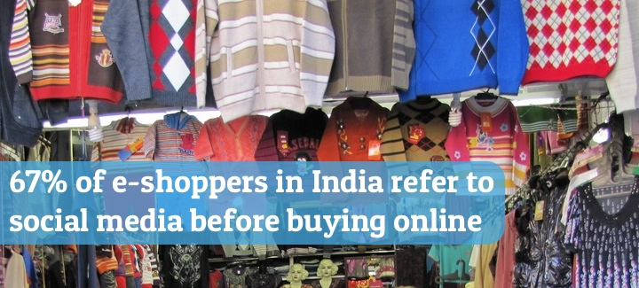 Most e-shoppers in India refer to social media before buying online
