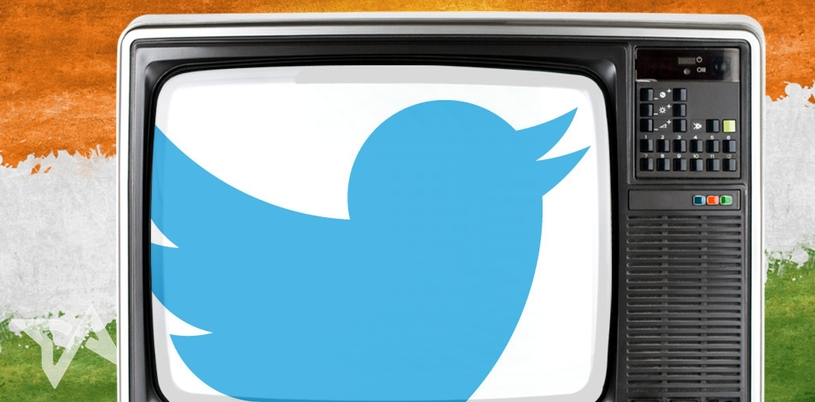 Twitter on digital TV in India