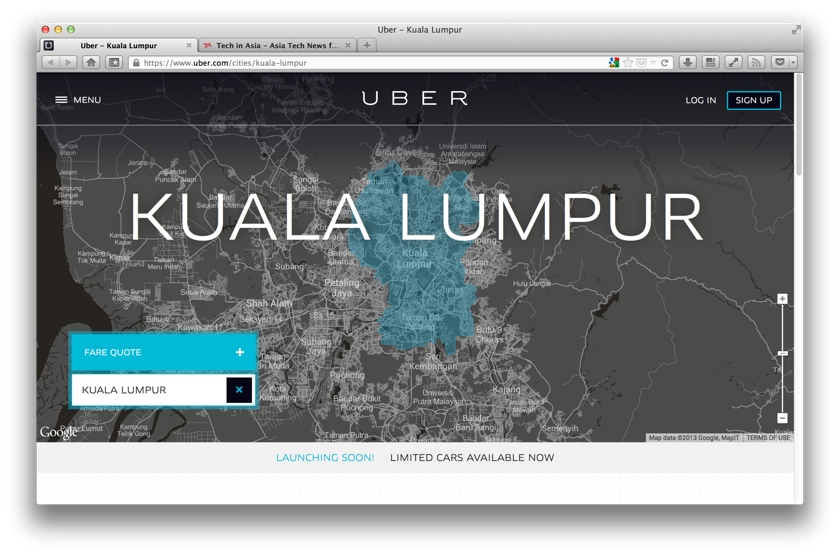 Uber launches today in Kuala Lumpur
