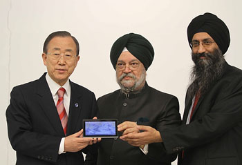Akash unveiled at UN