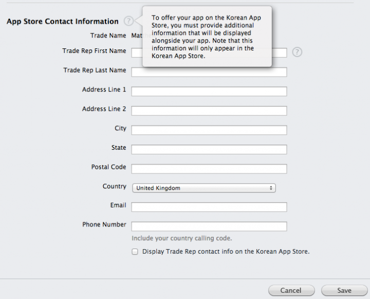 iTunes App Store gets personal in Korea, wants developers to show contact details