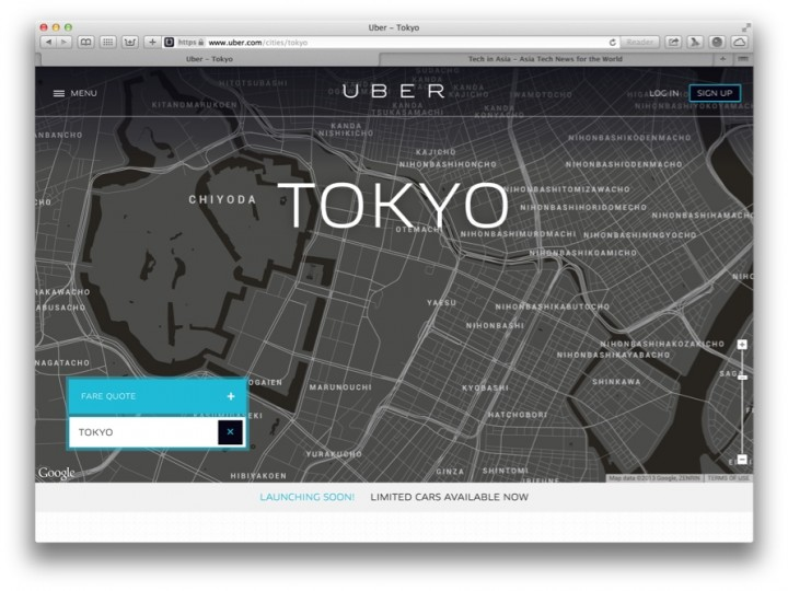 app connected limo service uber glides into tokyo. Black Bedroom Furniture Sets. Home Design Ideas