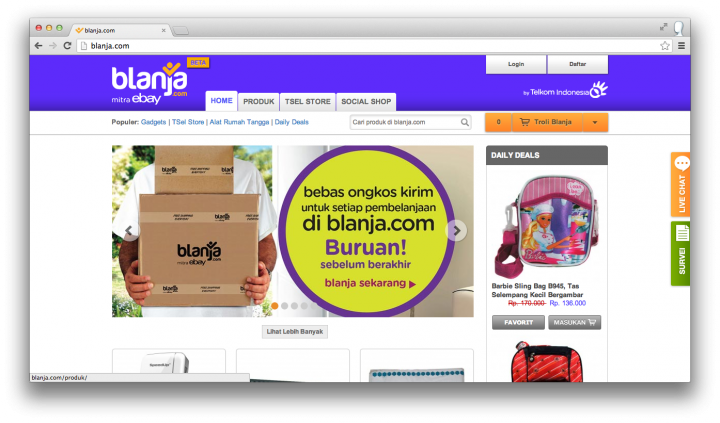 Ebay Quietly Arrives In Indonesia Under The Name Blanja