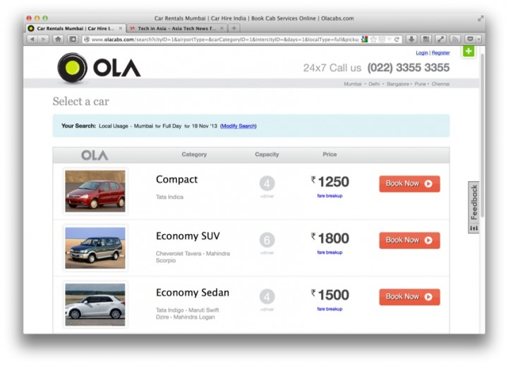 India Olacabs gets funding