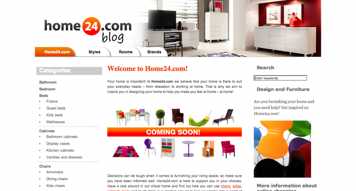 Online furniture   Home24.com
