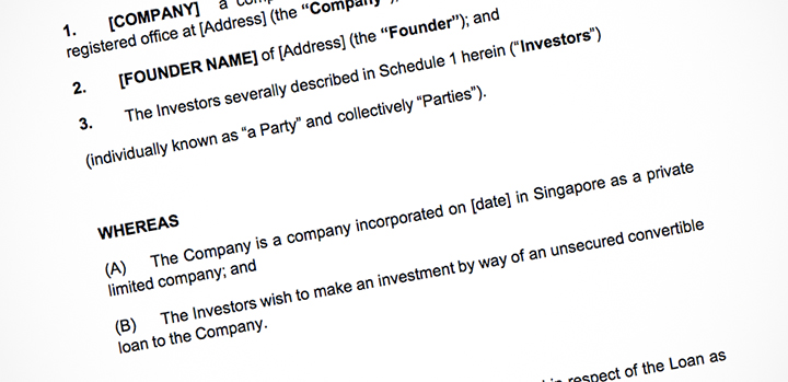 Singapore startups use these opensource investment templates – Investors Agreement Template