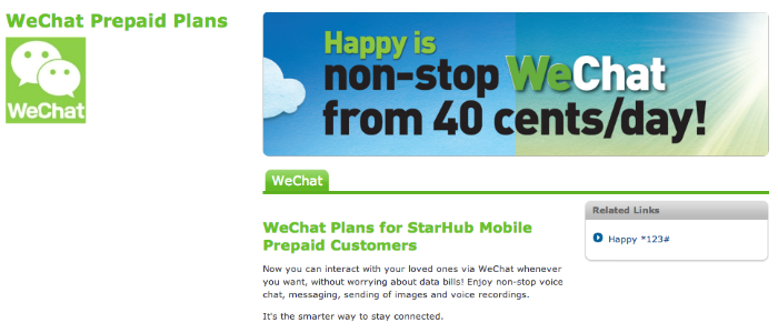 WeChat inks deal with Singapore telco to attract more young users