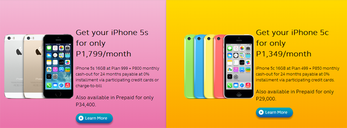 iPhone 5S & 5C price drop: Philippine telco lowers monthly fees