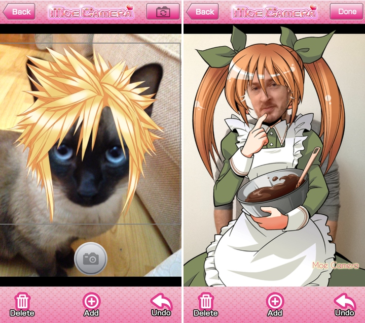 Moe Camera app puts the 'you' into Otaku