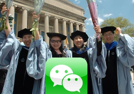 WeChat accounts used by US colleges