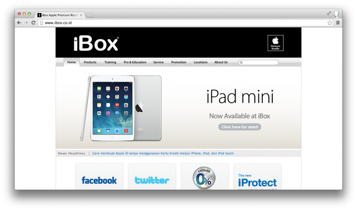 ibox site ipad mini