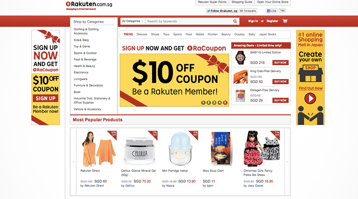 Top asian online shopping sites