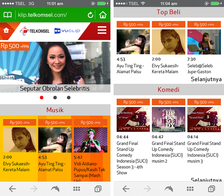 telkomsel video 500 screenshot