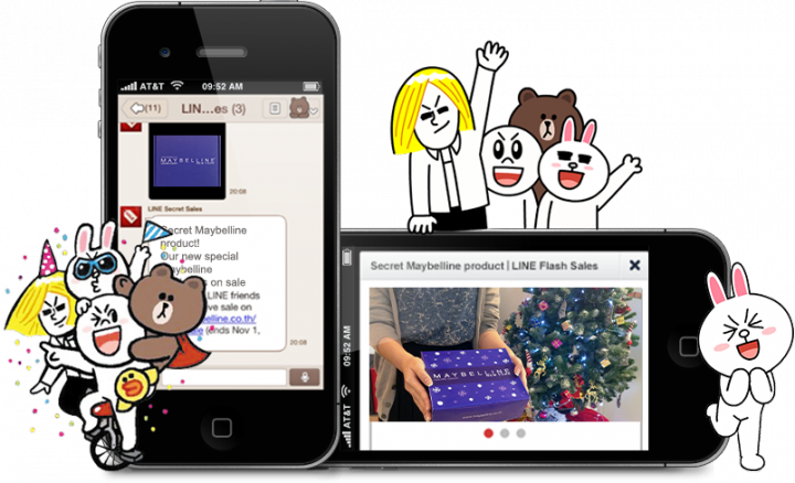 Line partners with maybelline for m-commerce