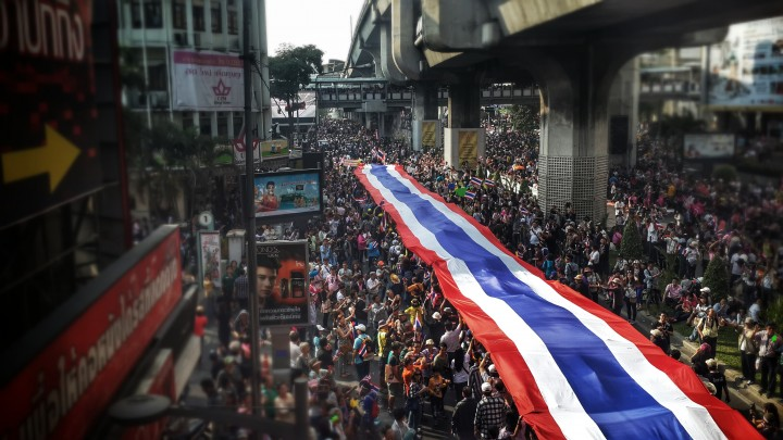 Bangkok shutdown political unrest ecommerce delivery