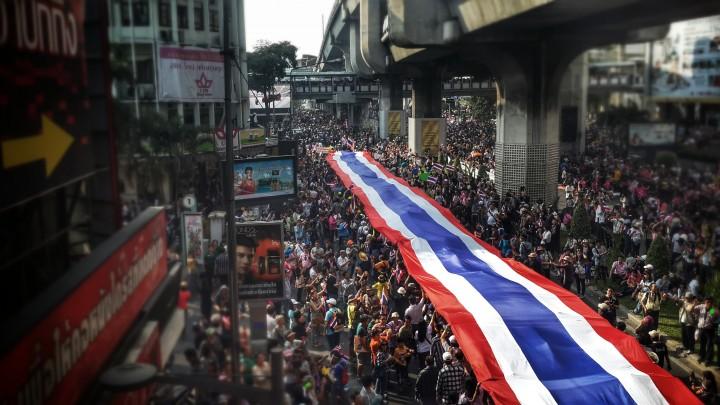 Bangkok shutdown political unrest ecommerce delivery