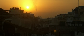 delhi india skyline