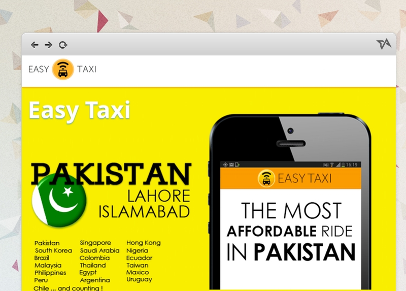 EasyTaxi Pakistan cities