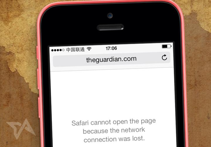 Guardian blocked in China again